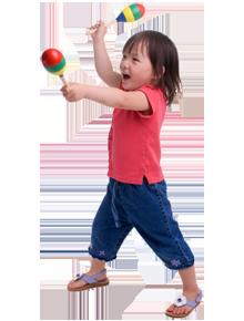 child with maracas